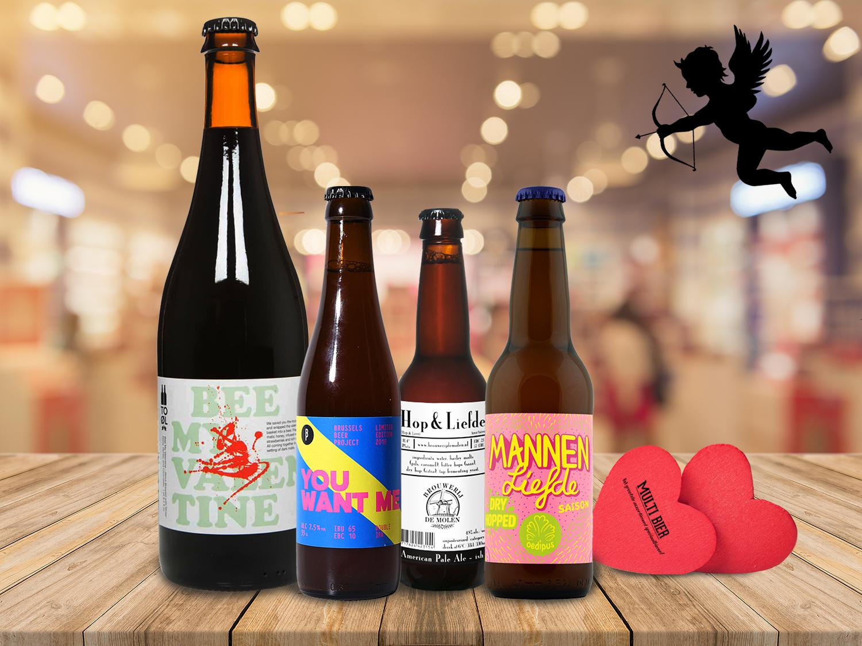 Multi Bier richt haar pijlen op Valentijnsbieren